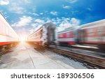 fast moving train  | Shutterstock . vector #189306506