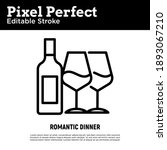 romantic dinner for two person...   Shutterstock .eps vector #1893067210