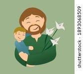 Saint Joseph And Baby Jesus...