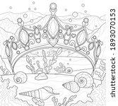 crown in the ocean.coloring...   Shutterstock .eps vector #1893070153