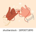 eastern red thread of fate on... | Shutterstock .eps vector #1893071890