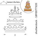 vector birthday dot to dot and... | Shutterstock .eps vector #1893077320