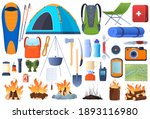 a set of equipment for hiking....   Shutterstock .eps vector #1893116980
