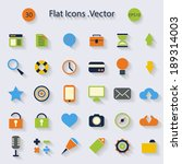 modern flat icons with long... | Shutterstock .eps vector #189314003