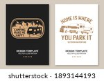 home is where you park it....   Shutterstock .eps vector #1893144193