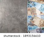 Various Money Notes Of 50 Reais ...