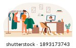 female character is is... | Shutterstock .eps vector #1893173743