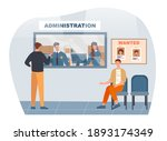 two man came to the police... | Shutterstock .eps vector #1893174349