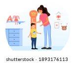 female character is measuring... | Shutterstock .eps vector #1893176113