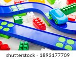 Baby Kid Toys Background. Toy...