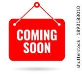 coming soon vector sign on...   Shutterstock .eps vector #1893183010