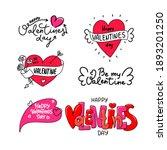 happy valentine's day dooddle... | Shutterstock .eps vector #1893201250