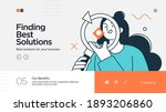 landing page template of... | Shutterstock .eps vector #1893206860