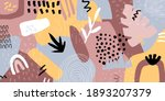 abstract collage horizontal... | Shutterstock .eps vector #1893207379