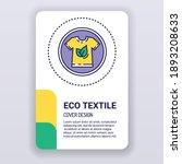 eco textile brochure template....