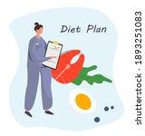 nutrition diet plan....   Shutterstock .eps vector #1893251083