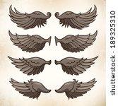 vector illustration of wings ...   Shutterstock .eps vector #189325310