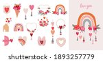 valentine's day collection of...   Shutterstock .eps vector #1893257779