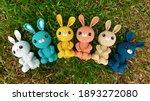 Handmade Knitted Doll. Bunny...