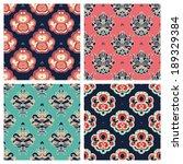 abstract seamless retro... | Shutterstock . vector #189329384