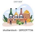 beer concept. craft beer... | Shutterstock .eps vector #1893297736