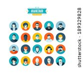 set of avatar flat design icons | Shutterstock .eps vector #189329828