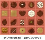 chocolate illustration set  ... | Shutterstock .eps vector #1893304996