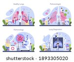 pulmonologist set. idea of... | Shutterstock .eps vector #1893305020
