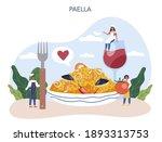 paella. spanish traditional... | Shutterstock .eps vector #1893313753