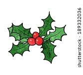 cartoon holly | Shutterstock .eps vector #189332036