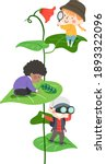 illustration of kids students... | Shutterstock .eps vector #1893322096