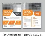 flyer corporate template design ...   Shutterstock .eps vector #1893341176
