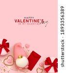 happy valentine's day pink...   Shutterstock .eps vector #1893356389