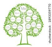 family genealogic tree isolated ...   Shutterstock .eps vector #1893359770