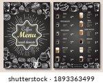 coffee menu vector template.... | Shutterstock .eps vector #1893363499