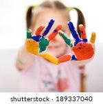 portrait of a cute cheerful... | Shutterstock . vector #189337040