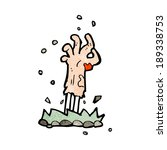 cartoon zombie hand rising from ... | Shutterstock .eps vector #189338753