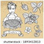 design set with handsome man...   Shutterstock .eps vector #1893412813