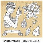 design set with handsome man...   Shutterstock .eps vector #1893412816
