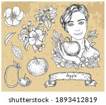 design set with handsome man...   Shutterstock .eps vector #1893412819