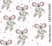 seamless pattern with cute... | Shutterstock .eps vector #1893413989