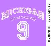 Michigan city print for apparel, sweatshirt and other uses.
