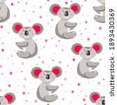 seamless pattern with cute... | Shutterstock .eps vector #1893430369