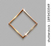golden rhombus frame for... | Shutterstock .eps vector #1893433549