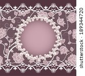 vintage card with lace and... | Shutterstock .eps vector #189344720
