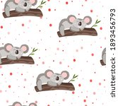 seamless pattern with cute... | Shutterstock .eps vector #1893456793