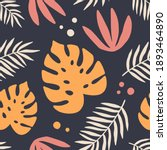 tropical leaves seamless... | Shutterstock .eps vector #1893464890