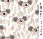 seamless pattern with cute... | Shutterstock .eps vector #1893479839
