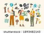 characters get lost in forest.... | Shutterstock .eps vector #1893482143