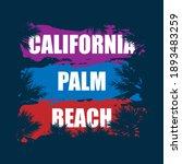 california palm beach.... | Shutterstock .eps vector #1893483259
